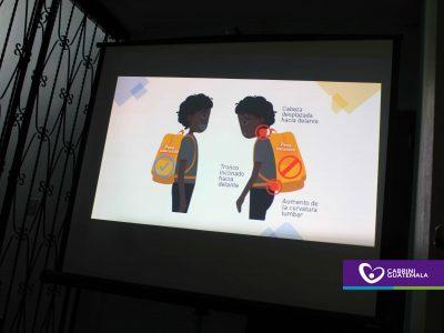 MOCHILA ESCOLAR, CUIDADOS DE LA POSTURA INFANTIL
